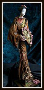 Powertex Japanese Lady Sculpture